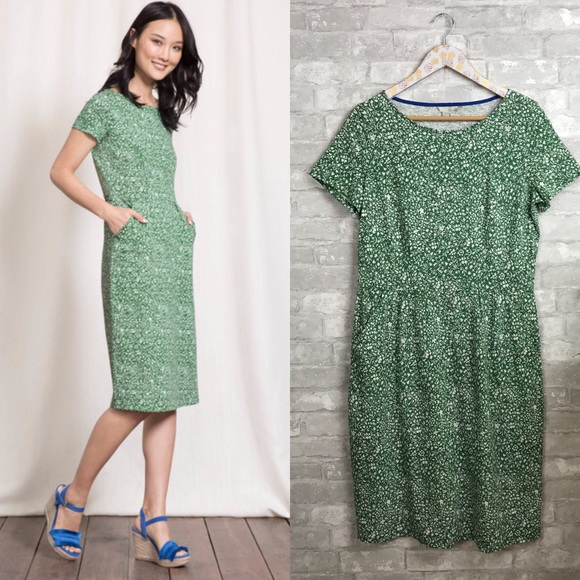 4a26d688fa99c Boden Dresses & Skirts - Boden phoebe jersey dress in dill mono vine